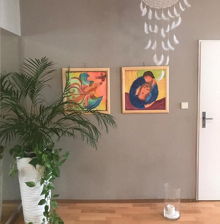 malba na hedvábí - mandala
